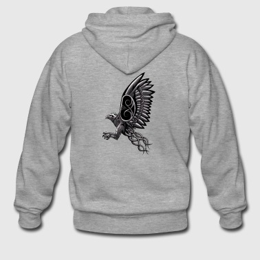 Celtic Harpy (Vintage Art) - Men's Premium Hooded Jacket
