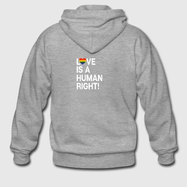 Love is a human right! LGBT heart gift - Men's Premium Hooded Jacket