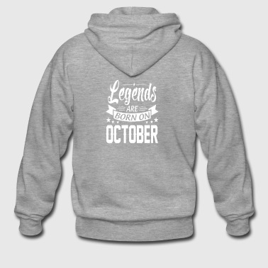 Legends are born in OCTOBER - Men's Premium Hooded Jacket