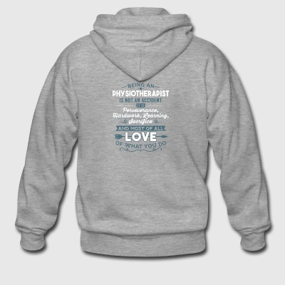 Love what you do - Physiotherapist - Men's Premium Hooded Jacket