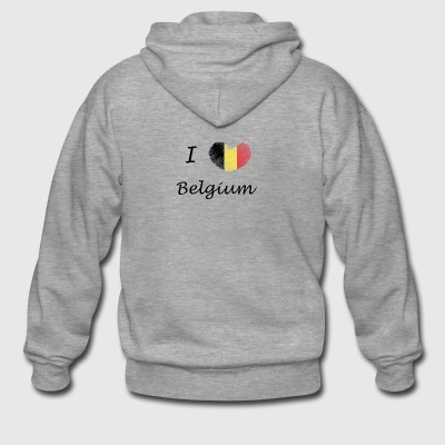I love Belgium - Men's Premium Hooded Jacket