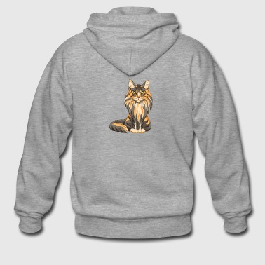 Maine Coon - Men's Premium Hooded Jacket