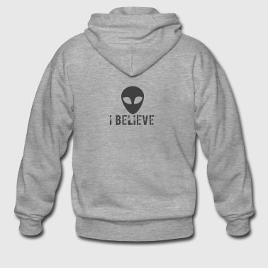 I believe logo - Men's Premium Hooded Jacket