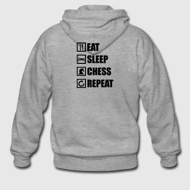 EAT SLEEP CHESS REPEAT - Männer Premium Kapuzenjacke