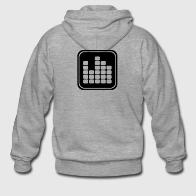 Music icon equalizer - Men's Premium Hooded Jacket