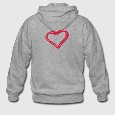 Twisted Heart - Men's Premium Hooded Jacket