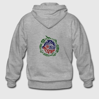 rayquaza kyogre groudon tribal - Men's Premium Hooded Jacket
