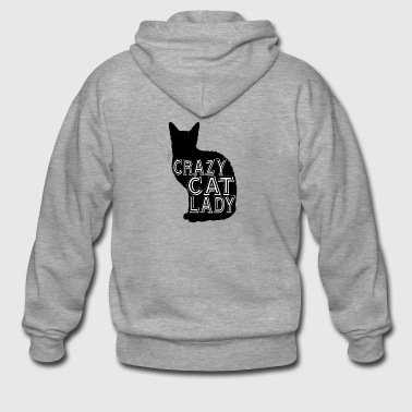 cat Crazy cat lady - Men's Premium Hooded Jacket