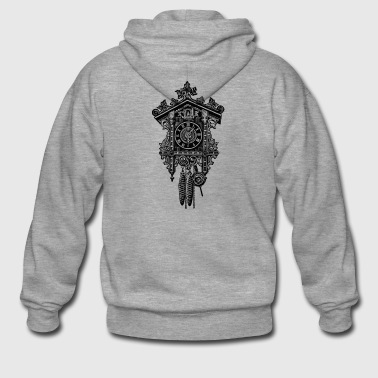 Cuckoo Clock watch drawing tattoo gift - Men's Premium Hooded Jacket