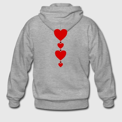 heart - Men's Premium Hooded Jacket