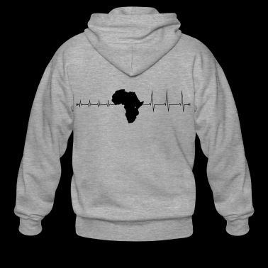 Heartbeat Africa - Heartbeat Africa - Men's Premium Hooded Jacket