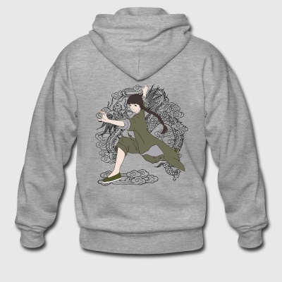 Kung Fu Girl - Men's Premium Hooded Jacket