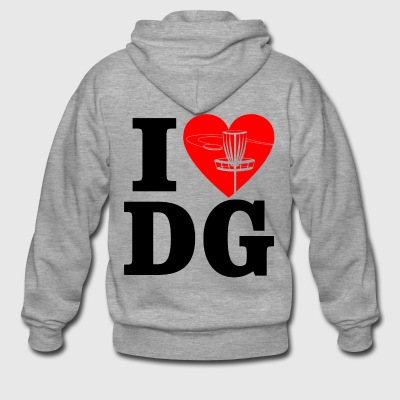 I heart dg - Men's Premium Hooded Jacket