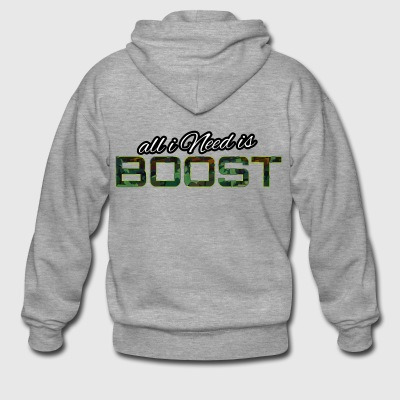 All i Need is boost - Men's Premium Hooded Jacket