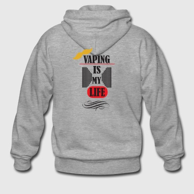 vaping is my life 3 - Männer Premium Kapuzenjacke