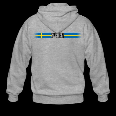 Sweden flag / banner 005 AllroundDesigns - Men's Premium Hooded Jacket