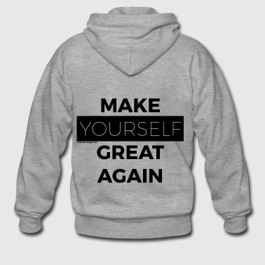MAKE YOURSELF GREAT AGAIN schwarz - Männer Premium Kapuzenjacke
