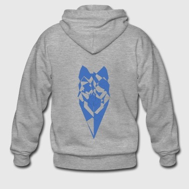 pixel Wolf - Men's Premium Hooded Jacket