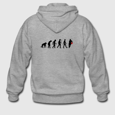 Evolution of Man Rugby Football Sports Fan - Premium-Luvjacka herr