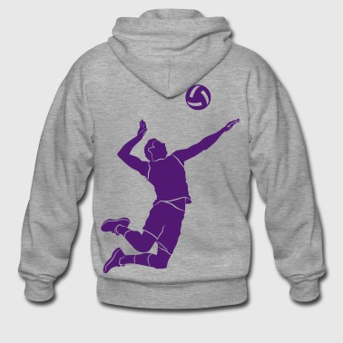 Volleyball player # 1 - Men's Premium Hooded Jacket
