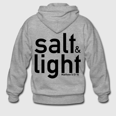 Salt & Light - Matthew 5: 13-14 - Men's Premium Hooded Jacket