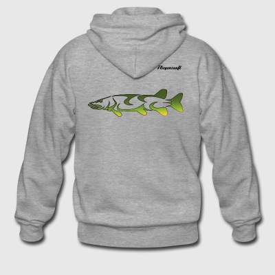 Fly fishing pike - Men's Premium Hooded Jacket