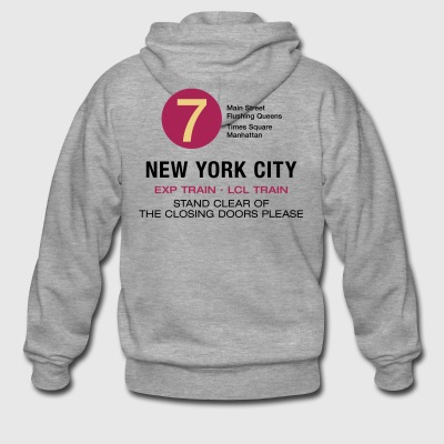 New York Subway Subway 7 Manhattan Queens NYC - Premium Hettejakke for menn