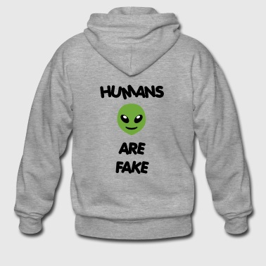 Humans Are Fake - Special Alien Edition - Men's Premium Hooded Jacket