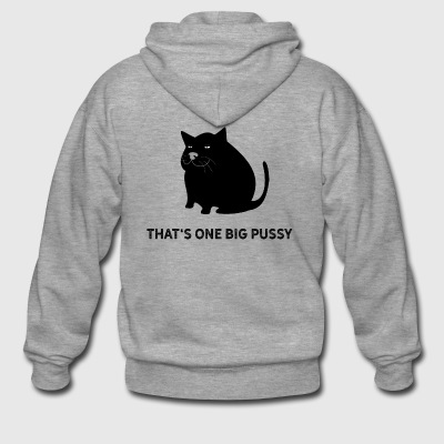 That is one big pussy pun. Fat cat dick - Men's Premium Hooded Jacket