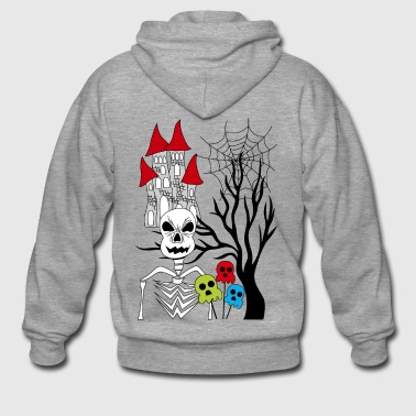 halloween skeleton - Men's Premium Hooded Jacket