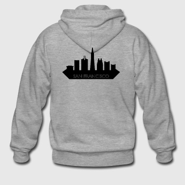 San Francisco skyline - Premium Hettejakke for menn