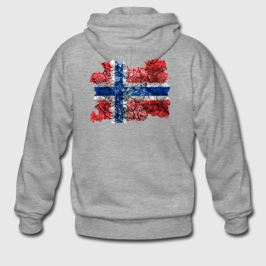 Norway vintage flag - Men's Premium Hooded Jacket