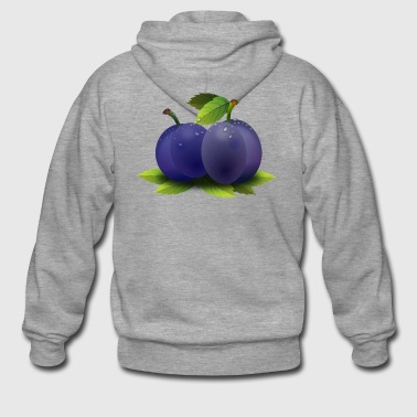 plum plum veggie vegetables fruits1 - Men's Premium Hooded Jacket