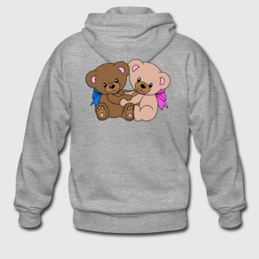 sweet teddy bears - Men's Premium Hooded Jacket