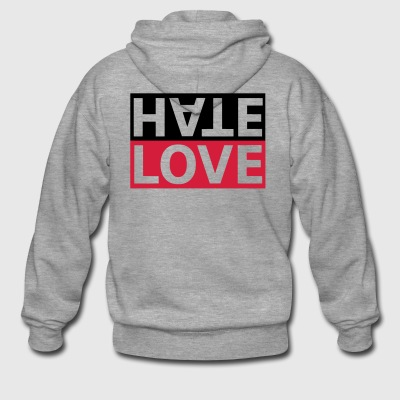 Hate Love hate love statement - Men's Premium Hooded Jacket