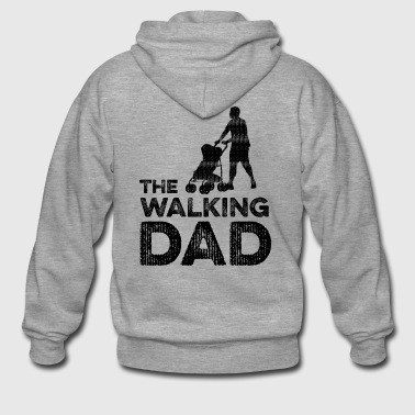 The Walking Dad - Rozpinana bluza męska z kapturem Premium