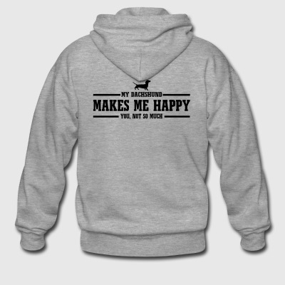 DACHSHUND makes me happy - Männer Premium Kapuzenjacke