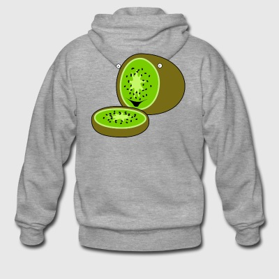 kiwi fruits fruit fruit fruit veggie vegetarian - Men's Premium Hooded Jacket