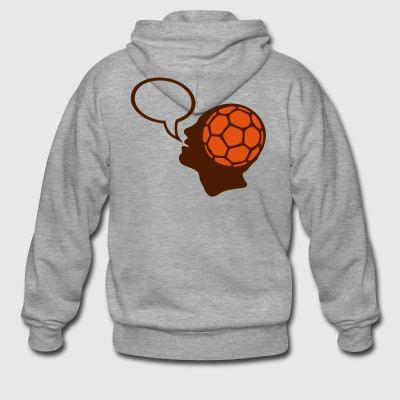 bubble handball head head figure face - Men's Premium Hooded Jacket