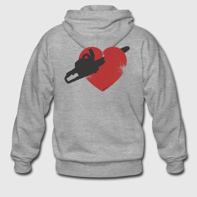 Broken Heart (F) - Men's Premium Hooded Jacket