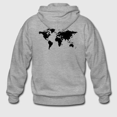 map of the world - Men's Premium Hooded Jacket