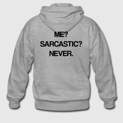 sarcastic - Men's Premium Hooded Jacket