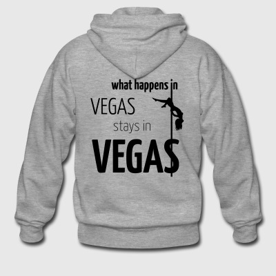 what happens in vegas... - Männer Premium Kapuzenjacke