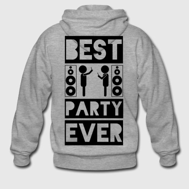 BEST PARTY EVER - Anti Smartphone - Rozpinana bluza męska z kapturem Premium