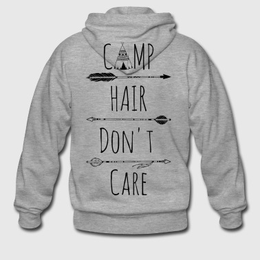 Camp Hair Do not Care - Men's Premium Hooded Jacket