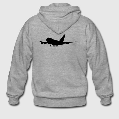 Boeing Jumbo Jet A380 aircraft for fans - Men's Premium Hooded Jacket