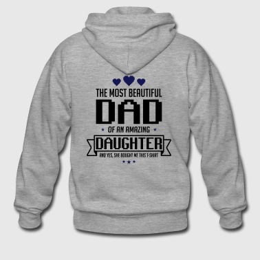 Beautiful Daughter's father's day - fathers day - Men's Premium Hooded Jacket