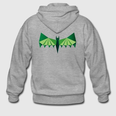 Green poly bat - Men's Premium Hooded Jacket