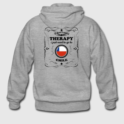 DON T NEED THERAPY GO CHILE - Men's Premium Hooded Jacket