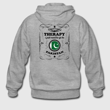 DON T NEED THERAPY GO PAKISTAN - Men's Premium Hooded Jacket